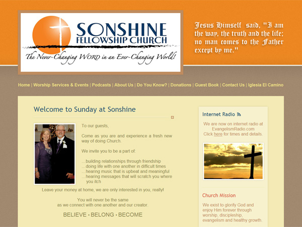 sonshine fellowship church website thumbnail