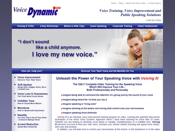 voice dynamic website thumbnail